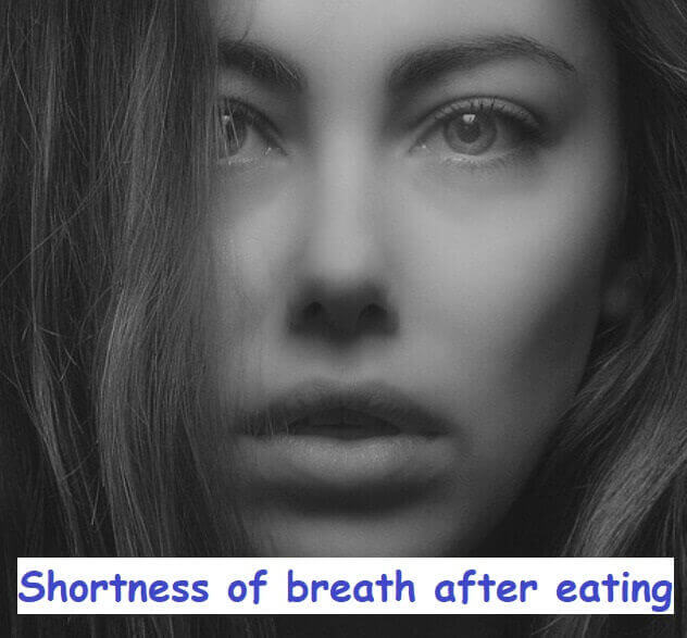 Shortness of breath after eating