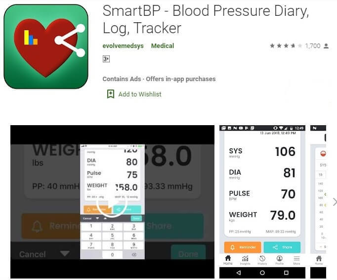 Best Blood Pressure App For Android - SmartBP