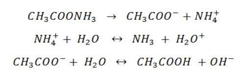 Complete salt hydrolysis reaction