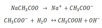 Partial salt hydrolysis reaction
